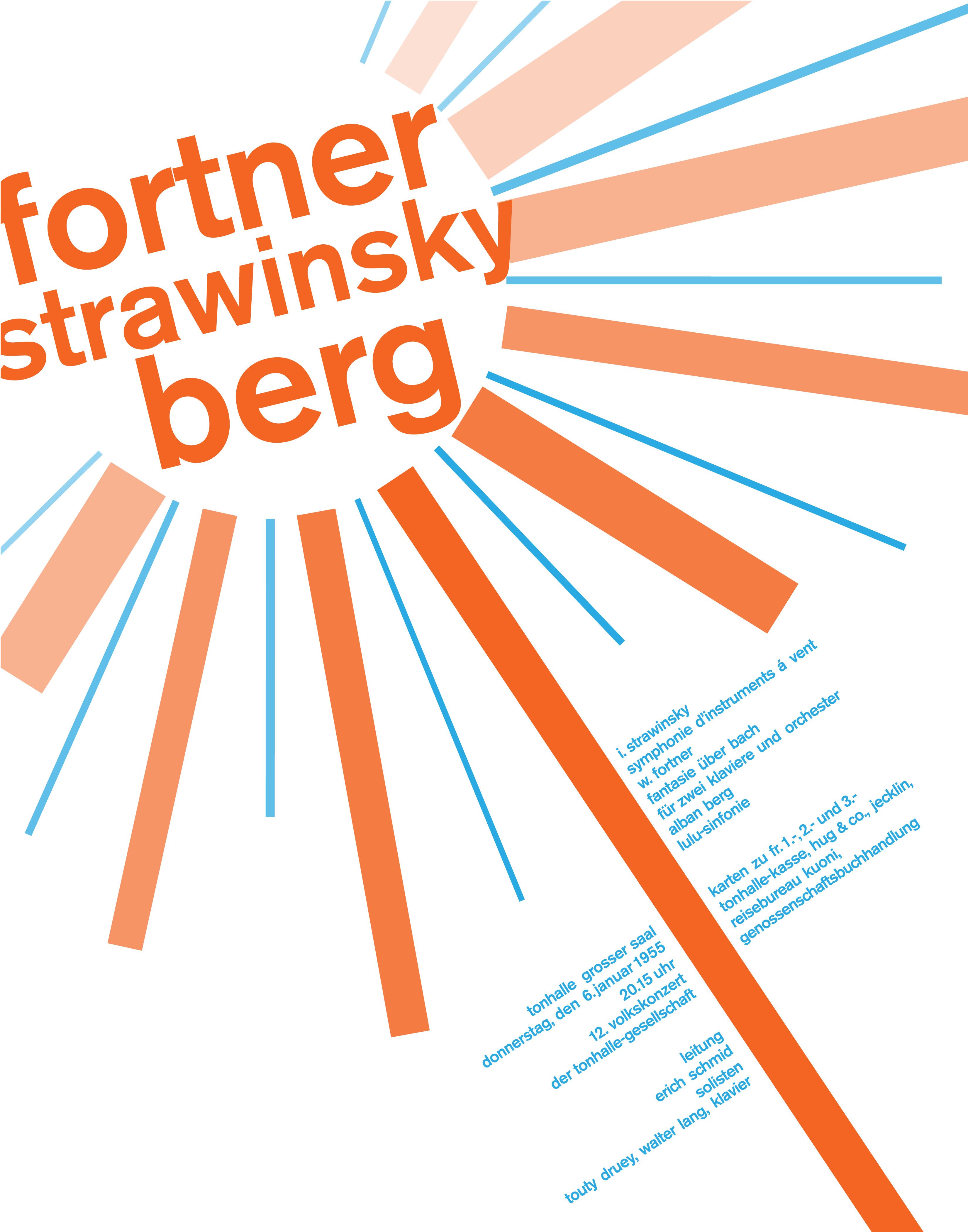 Fortner Strawinsky Berg Poster